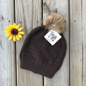 MUK LUKS Knit Brown Hat NWT